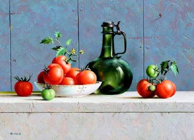 frutas-con-jarrones-bodegones-pintura-cuadros-al-oleo