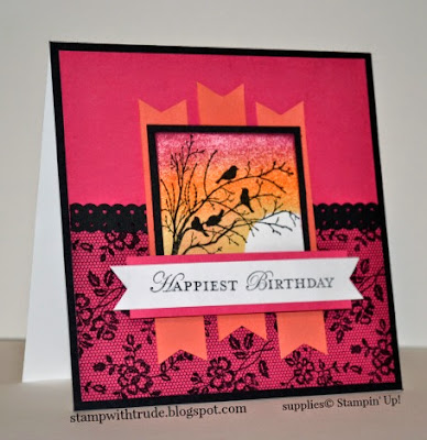 Apothecary Art stamp set and the sponged background technique and I Love Lace background stamp