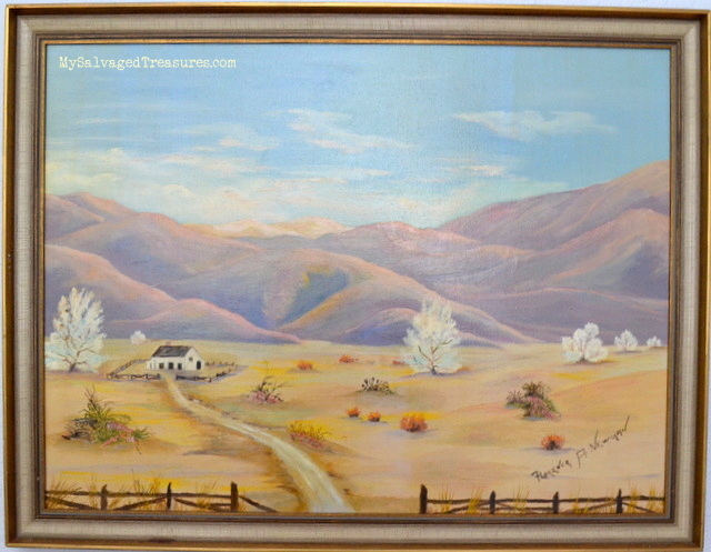 desert oil painting vintage