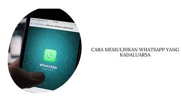 Cara Memulihkan WhatsApp yang Kadaluarsa