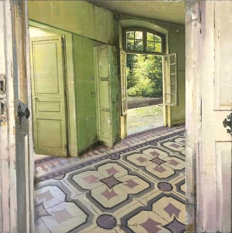 Paintings Of Desolate Interiors By Matteo Massagrande