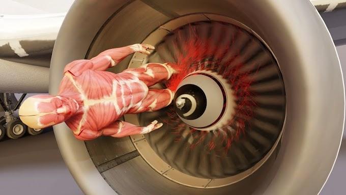 Un vídeo nos enseña que pasa cuando nos succiona el motor de un avión