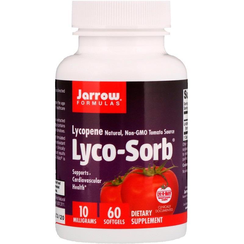 Jarrow Formulas, Lyco-Sorb Ликопин, 10 мг, 60 мягких таблеток