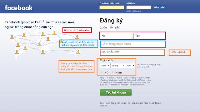 Làm cách nào để tạo tài khoản Facebook?