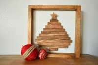 wooden christmas tree shadowbox