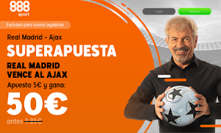 888sport superapuesta champions Ajax vs Real Madrid 13 febrero 2019