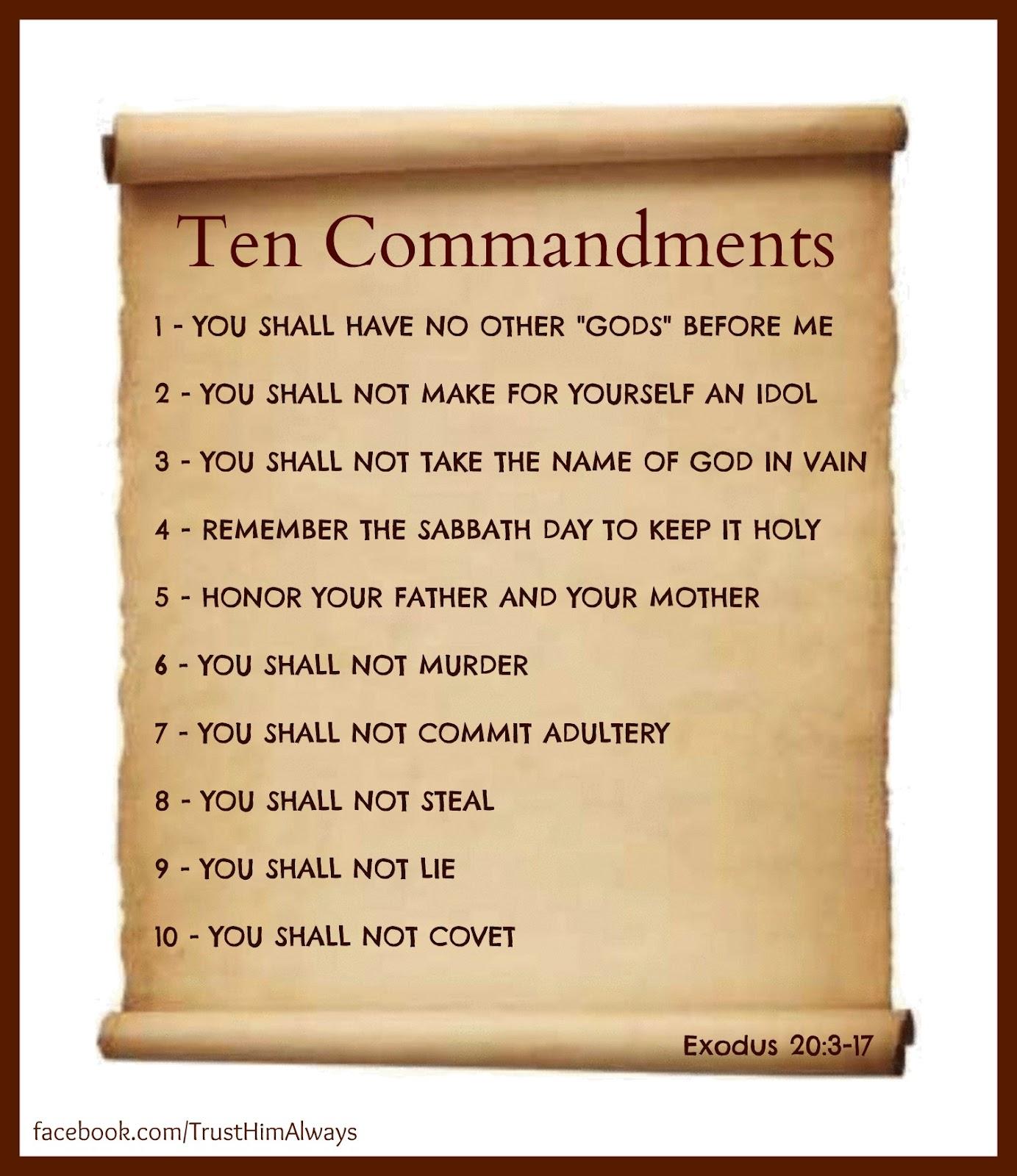 Seeking Jesus Ten Commandments Not Suggestions