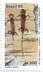 Selo pinturas rupestres da Lapa do Caboclo
