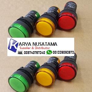 Jual Lampu Indikator Merah, Kuning, Hijau 22mm - 220V di Malang