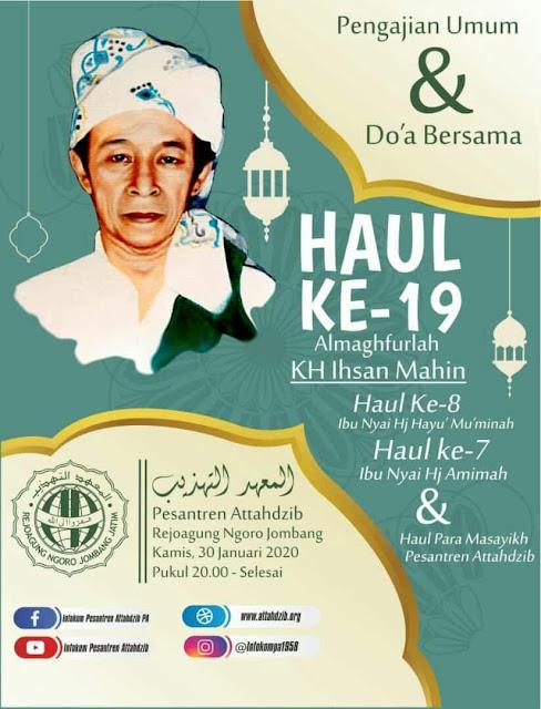 Haul Romo KH Ihsan Mahin ke 19 Tokoh Wahidiyah