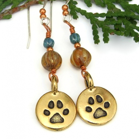 dog rescue earrings for her