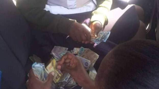Zambia 'bribe' officers caught red-handed