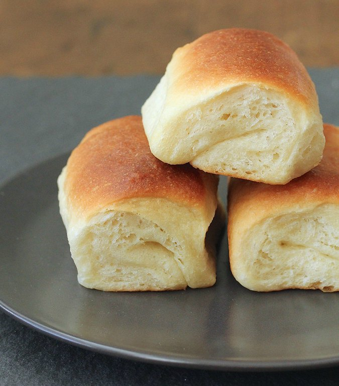 Parker House Rolls on a plate