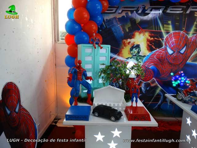 Aniversário infantil tema do Homem Aranha - Festa masculina - Decoração provençal simples