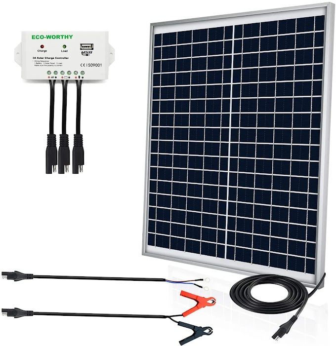 ECO-Worthy 25 Watts 12V Off Grid Solar Panel