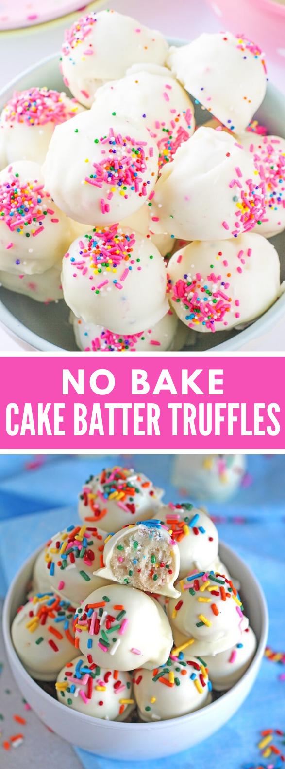 No Bake Cake Batter Truffles #desserts #cookies