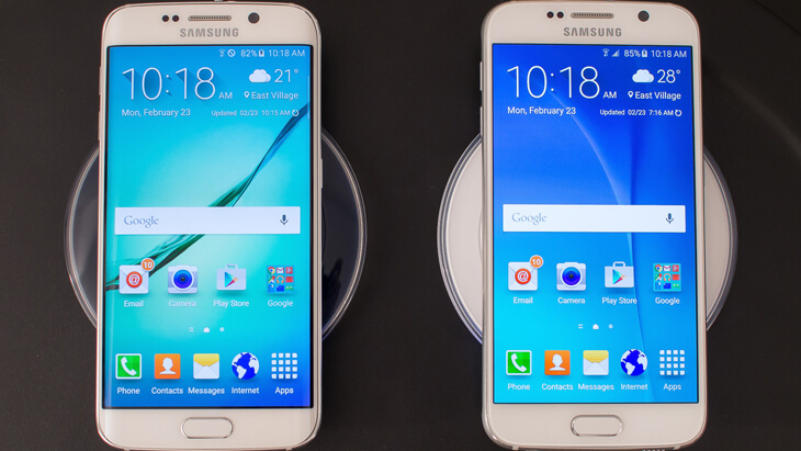 Galaxy S6 y S6 edge en cargadores
