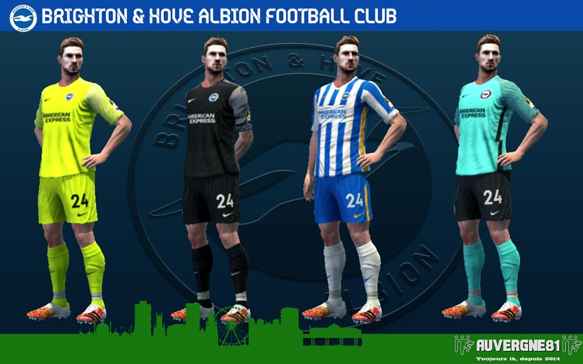Kits Bighton Hove & Albion 2021-2022 For PES 2013