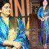 Kushboo Blue Silk Salwar