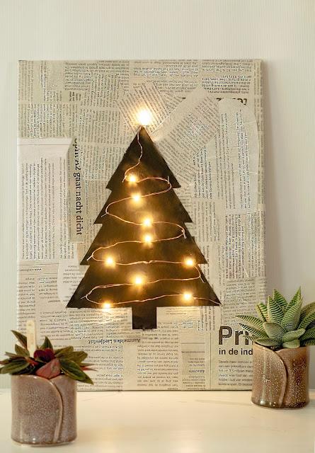 Geweldig idee voor Kerst - Diy Kerst decoratie