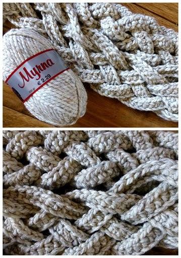 Haakpatroon gevlochten sjaal