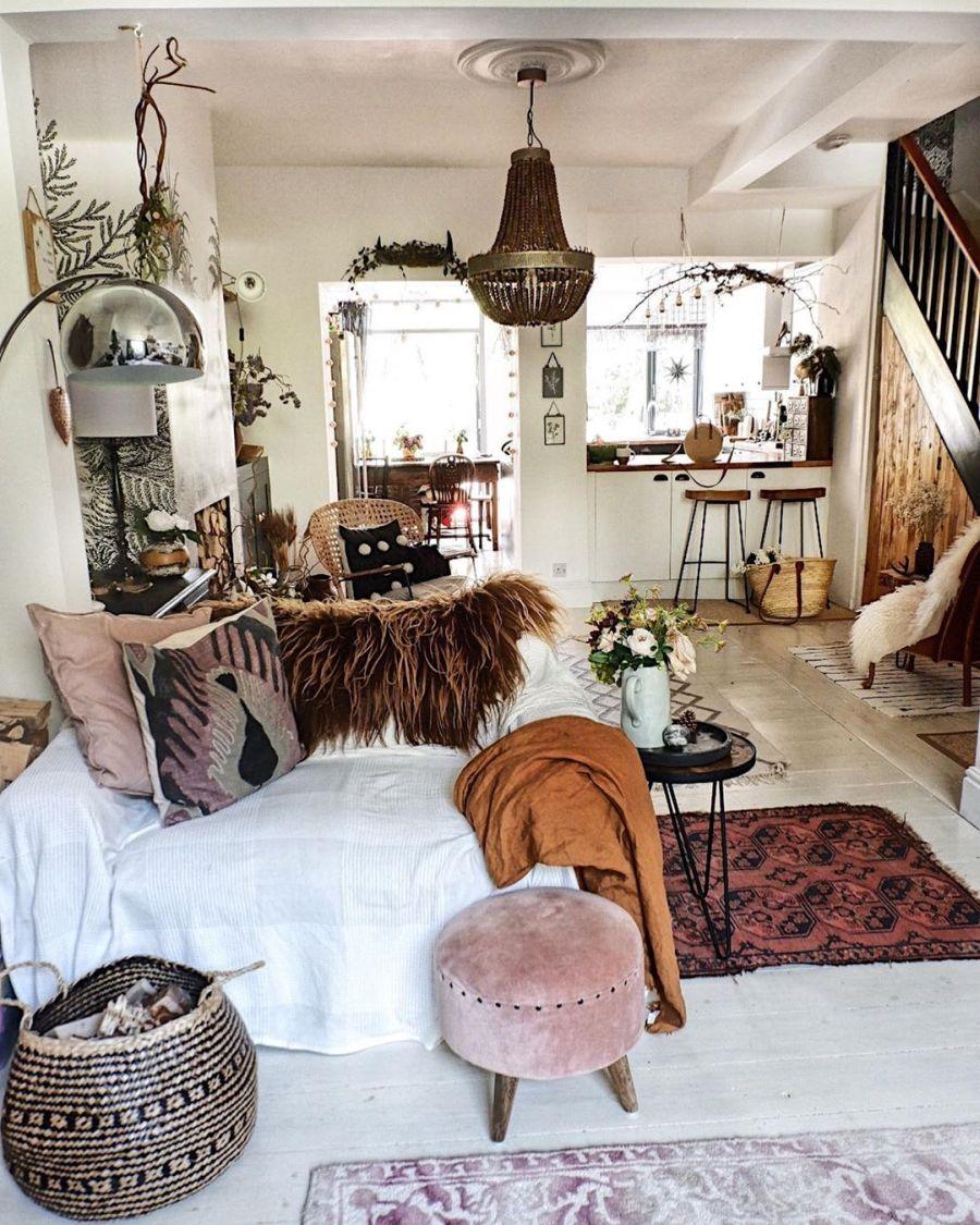 wystrój wnętrz, wnętrza, urządzanie domu, dekoracje wnętrz, aranżacja wnętrz, inspiracje wnętrz,interior design , dom i wnętrze, aranżacja mieszkania, modne wnętrza, boho, boho style, styl skandynawski, scandinavian style, styl eklektyczny, salon, pokój dzienny, fototapeta, living room