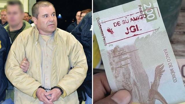 Con las inicial es de JGL, Joaquín Guzmán Loera El Chapo circulan billetes por todo el país y son validos