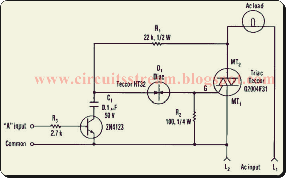 Simple Tactful Triac Controller Circuit Diagram