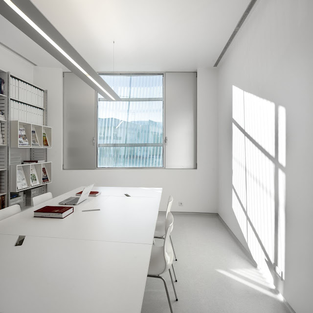 Picture of minimalist office in the modern pharmacy building
