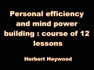 Personal efficiency and mind power building