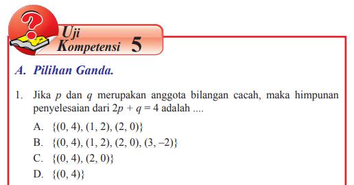 Jawaban Buku Matematika Kelas 8 Uji Kompetensi 5 Hal 239 Spldv Pentium Sintesi