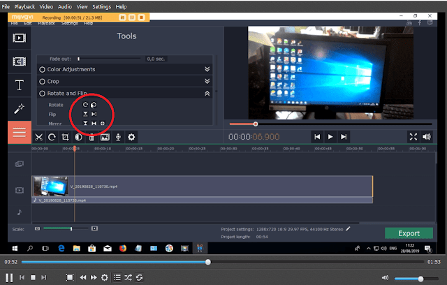 change orientation video edit