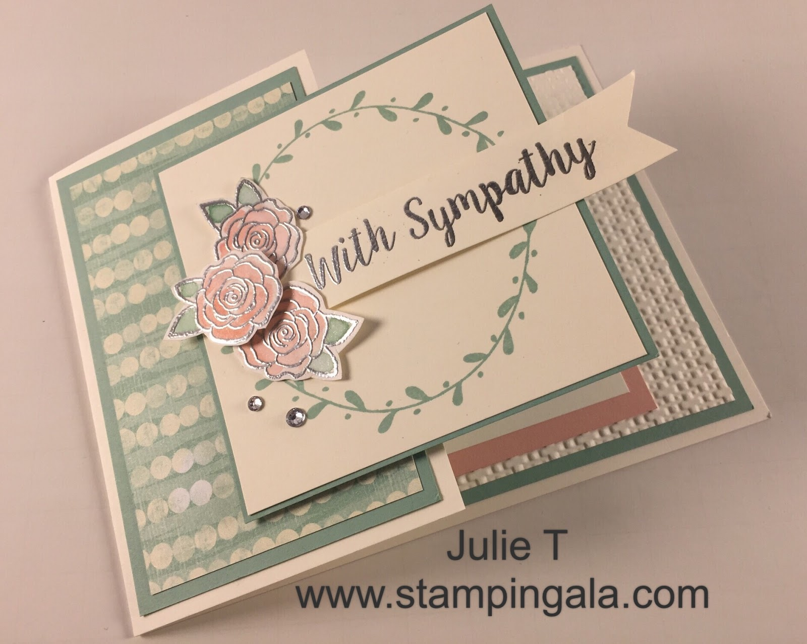 stampin gala beautiful fold sympathy card video and