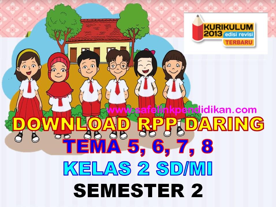 RPP Daring Tema 5 6 7 8 Kelas 2 SD/MI