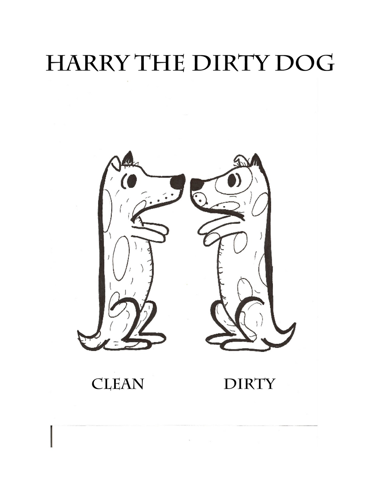 Clean And Dirty Coloring Page Coloring Pages