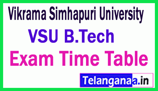 Vikrama Simhapuri University B.Tech Exam Time Table Jan-Feb 2019