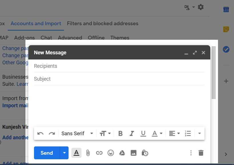 Email box Popup - Thanalysis