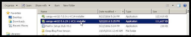 File Installer XAMPP