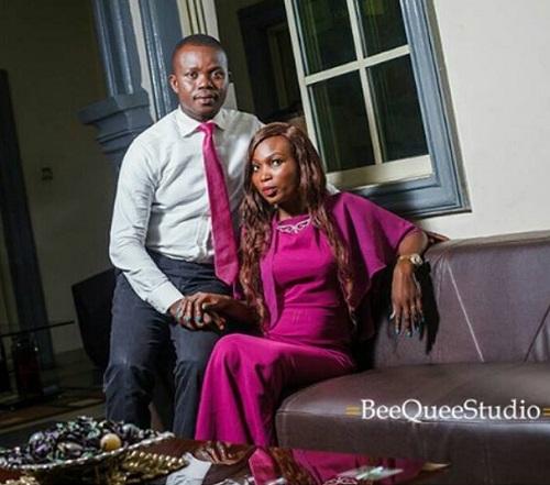THOMAS SUNDAY OKE WITH BRIDE, OLUWABUNMI