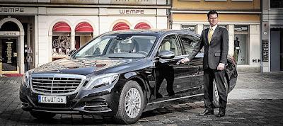 Mercedes S-Klasse mit Chauffeur in Dresden mieten