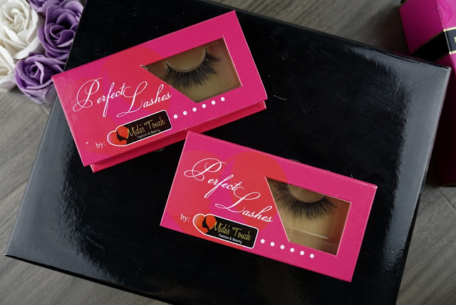 Midas Touch Mink Lashes on grey background