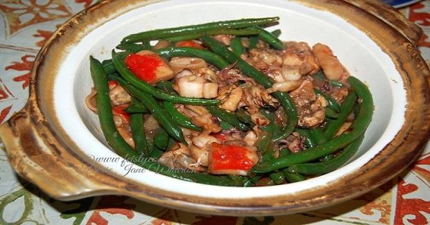 Seafood Mix & Green Beans Stir-Fry Recipe