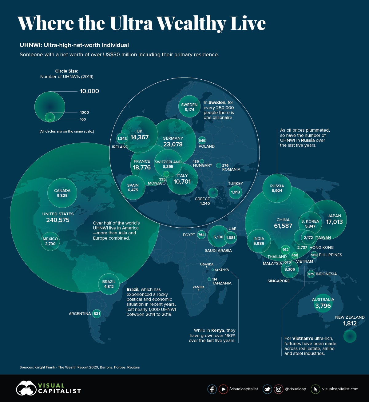 Where The Ultra Wealthy Live #infographic