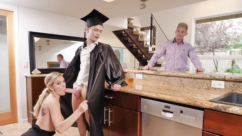Family Strokes – Cap And Gown Dick Down – Kenzie Taylor