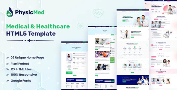 Best Medical & Healthcare HTML5 Template