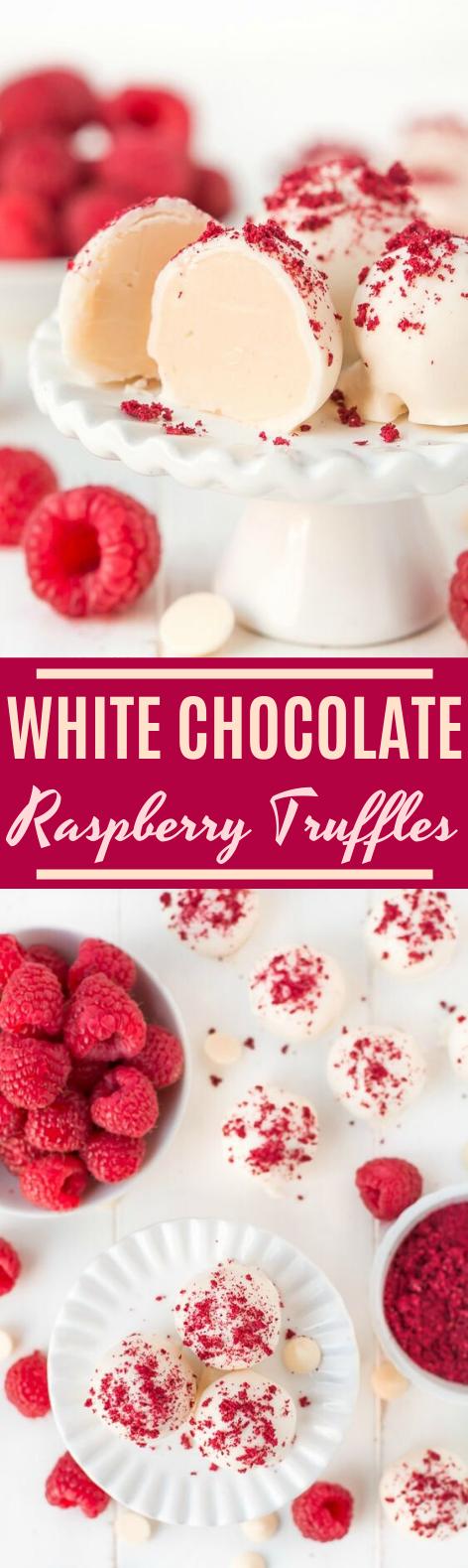 White Chocolate Raspberry Truffles #desserts #chocolate #candy #christmas #nobake