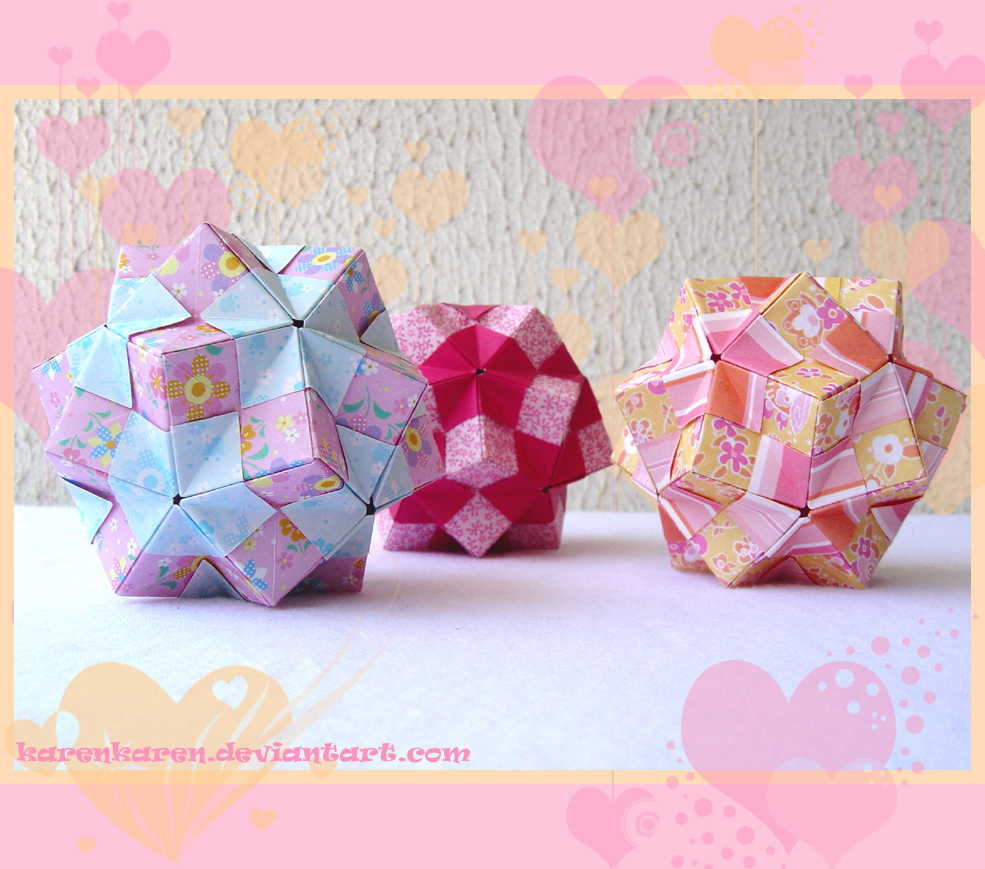Origami Maniacs What Is A Kusudama Tomoko Fuse Diagrams