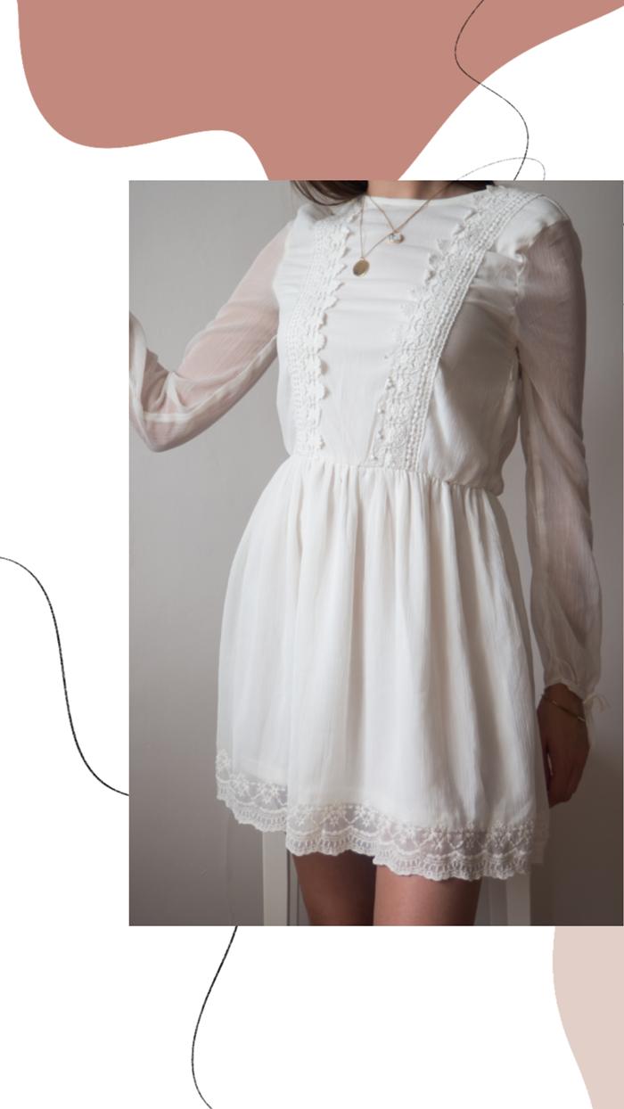 koronkowa sukienka z hm