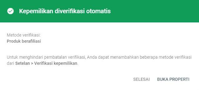 Verifikasi Domain Otomatis