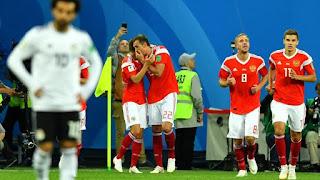 Rusia vs Mesir PD 2018